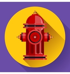 Red fire hydrant icon for video mobile vector