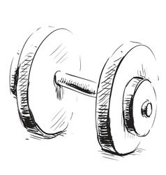 Gum weight dumbbell cartoon icon vector