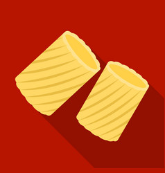 ditalini pasta icon in flate style isolated on vector image