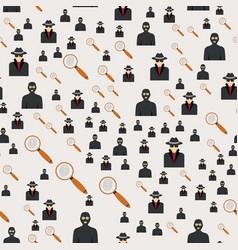 seamless pattern criminal man in hood or criminal vector image
