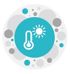 Of journey symbol on heat icon vector