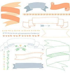 Hand drawn banners vector