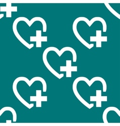 Heart web icon flat design seamless pattern vector