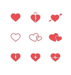 Heart Symbols Set vector image