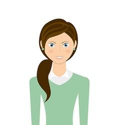 Businesswoman avatar vector