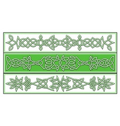 celtic patterns vector image