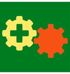 Medical process icon vector