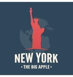 Typography poster of nyc and statue of liberty vector