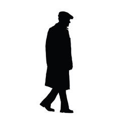 Man old silhouette vector