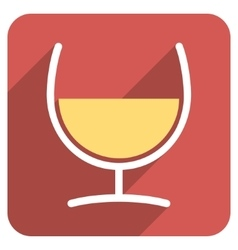 Remedy glass flat rounded square icon with long vector
