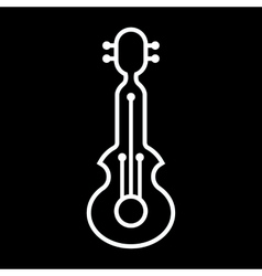 Line art guitar icon vector