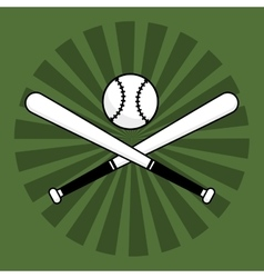Baseball bats ball vector