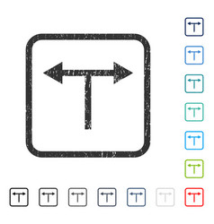 bifurcation arrows left right icon rubber vector image