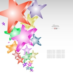 Candy stars creative background vector