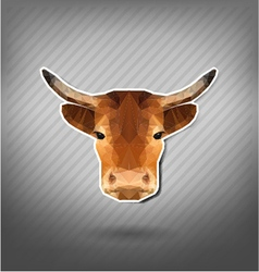 cow abstract triangle polygonal animal origami vector image vector image