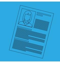 curriculum vitae design vector image vector image
