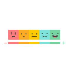 emoticons temperature scale concept vector image vector image
