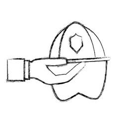 Firefigther helmet cartoon vector