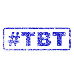Hashtag tbt rubber stamp vector
