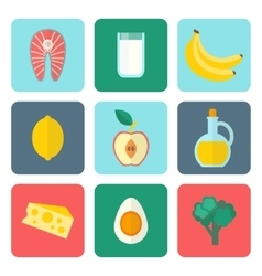 Healthy eating set vector