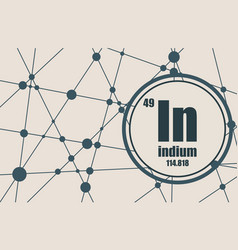indium chemical element vector image vector image