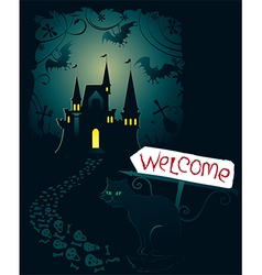 Invitation for Halloween party vector image vector image