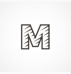 letter m logo icon design template elements vector image