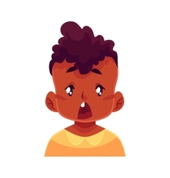 Little boy face surprised facial expression vector image