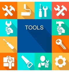 Repair and construction working tools icon vector image vector image