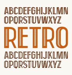 Sans serif decorative font in retro style vector image vector image