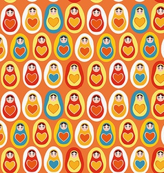 Seamless pattern orange blue red yellow Russian vector image vector image