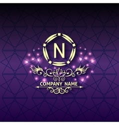 Shiny corporate style card arabesque with pattern vector