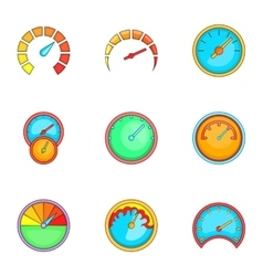 Speedometer or gauge icons set cartoon style vector image vector image