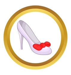 Women shoe icon vector