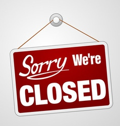 We are closed sign vector