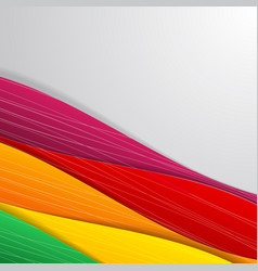 colored art abstraction vector image
