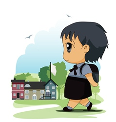 Children to school vector
