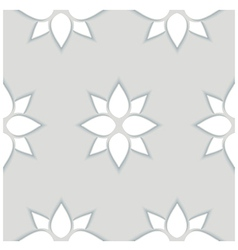 Seamless pattern of flowers 3d vector