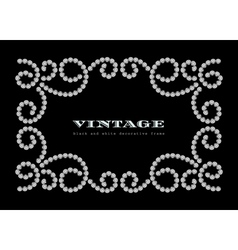 Dotted jewelry frame vector image