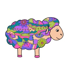 Colorful sheep vector