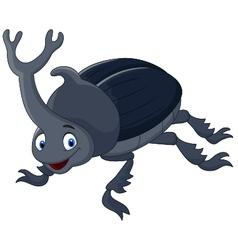 Cartoon stag beetle vector