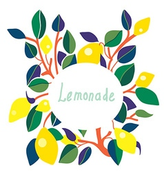 Lemonade label - bright design vector