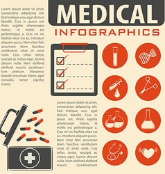 Medical infographic with text and symbols vector