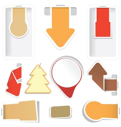 Sticker arrow tags collection vector