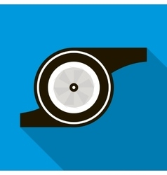 Turbocharger icon in flat style vector