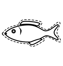Seafood animal isolated flat icon vector