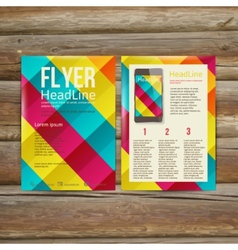 Abstract Brochure Flyer design template vector image vector image