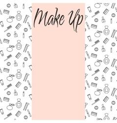 Beauty makeup accessories center banner flyer vector
