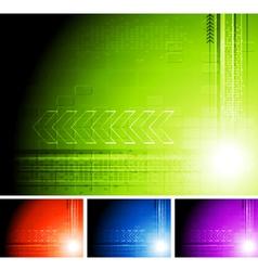 Bright design with arrows vector image vector image