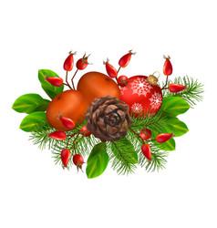 Christmas festive decoration vector